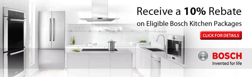 Save up to 10% with qualified Bosch Appliance Package purchase