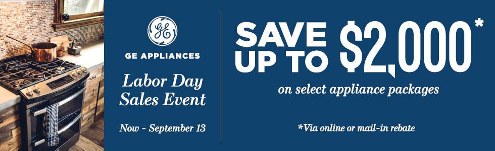 GE Labor Day Savings- Save up to $2000